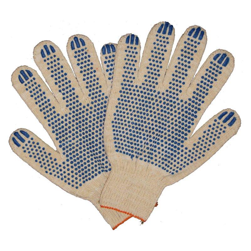 Увеличить - Перчатки трикотажные 5-ти нитка с ПВХ напылением