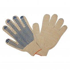Перчатки трикотажные 4-х нитка с ПВХ напылением (точка)